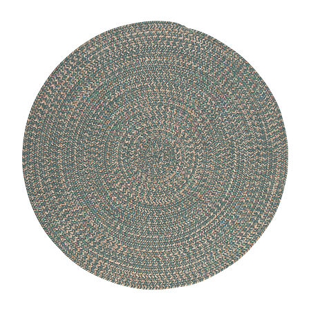 Colonial Mills American Tweed Braided Round Reversible Indoor Rugs, One Size , Blue