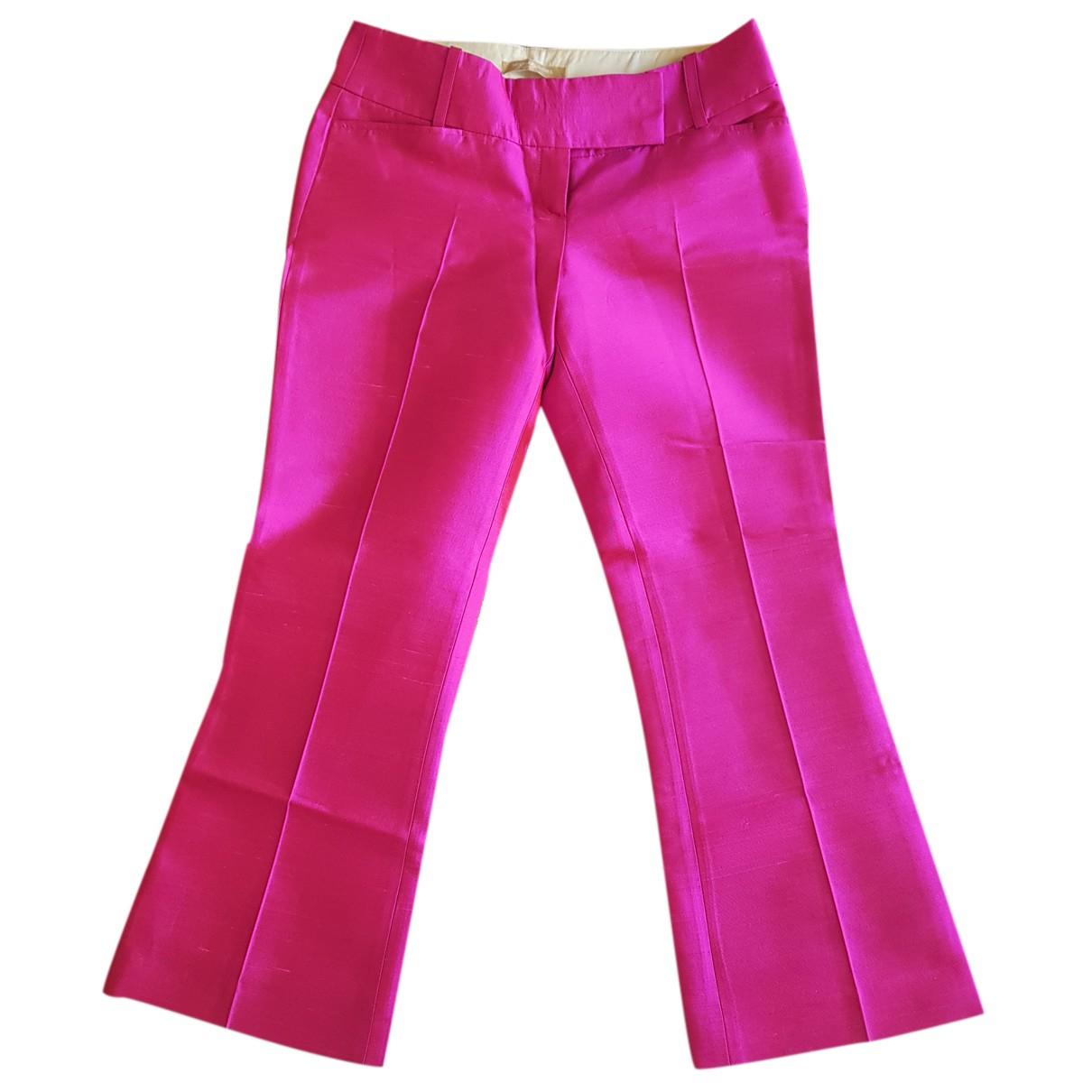 Michael Kors N Pink Wool Trousers for Women XS International