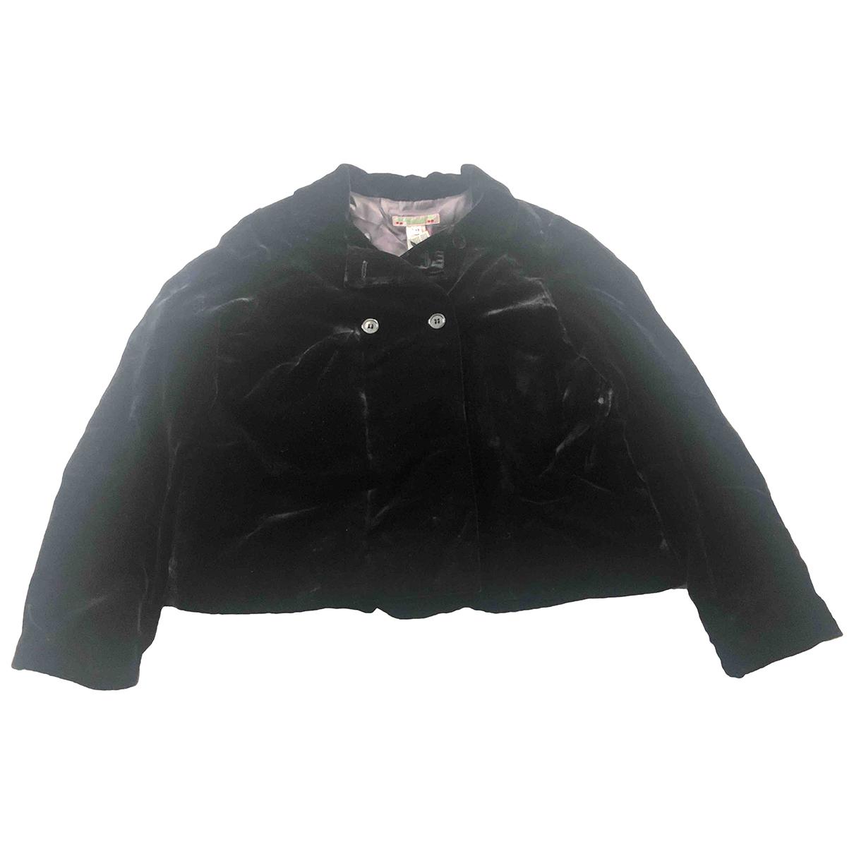 Bonpoint - Blousons.Manteaux   pour enfant en velours - noir