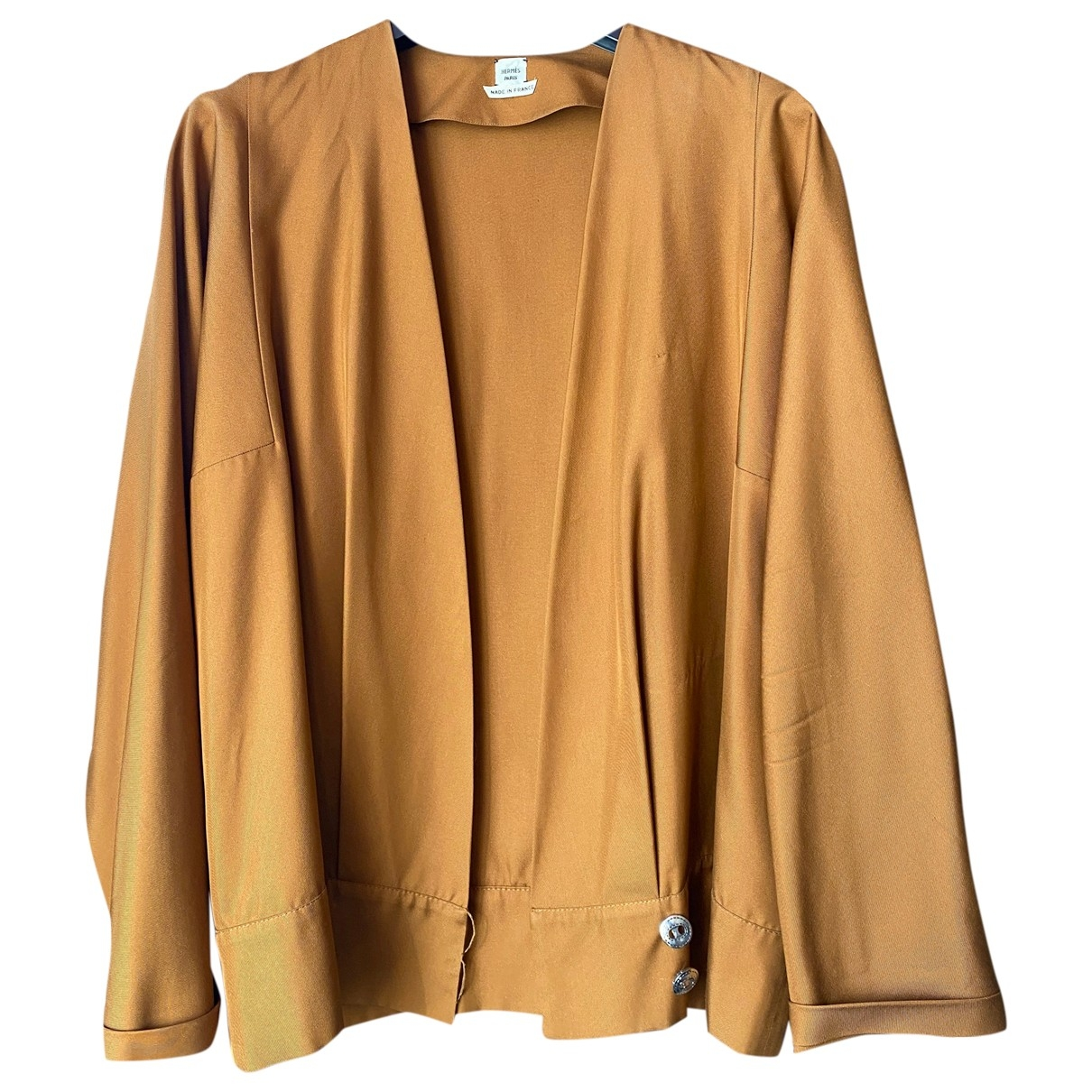 Hermès \N Brown Silk jacket for Women 42 FR