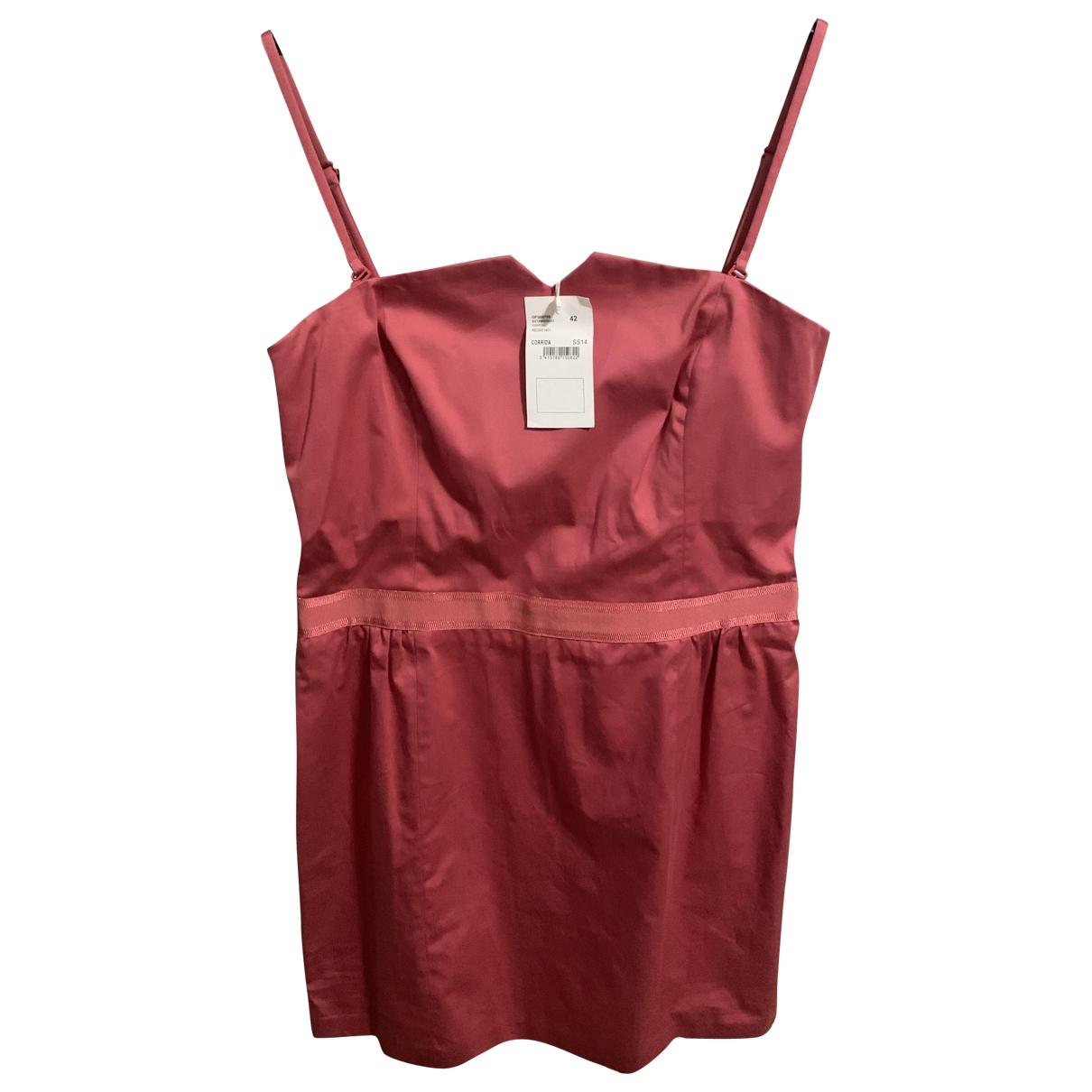 Comptoir Des Cotonniers - Robe   pour femme en coton - elasthane - rose