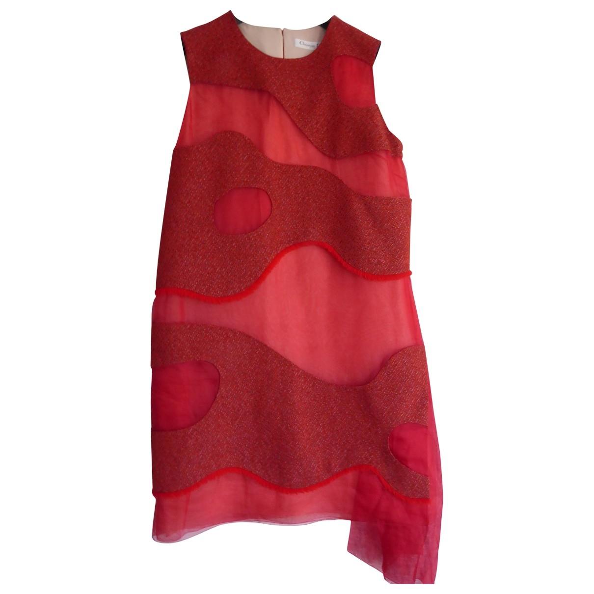 Dior \N Red Silk dress for Women 38 FR
