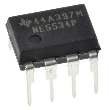 Texas Instruments NE5534P , Op Amp, 10MHz, 8-Pin PDIP (50)