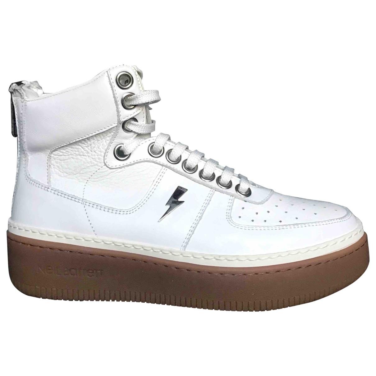 Neil Barrett \N Sneakers in  Weiss Leder