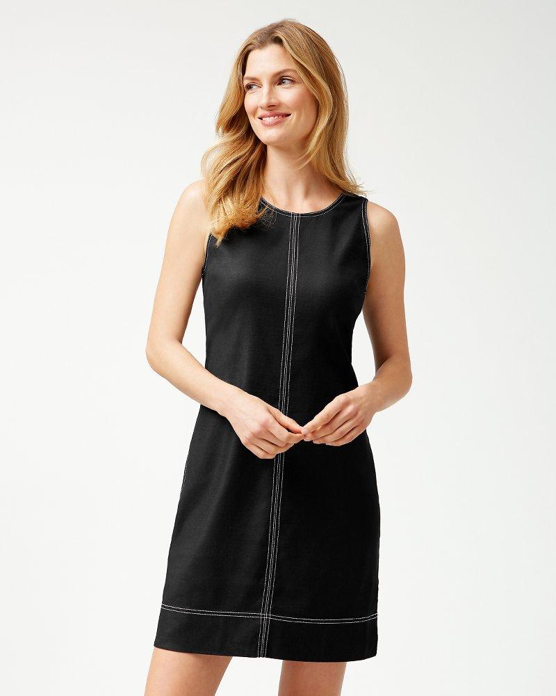 Palm-A-Dora Stretch-Linen Sheath Dress