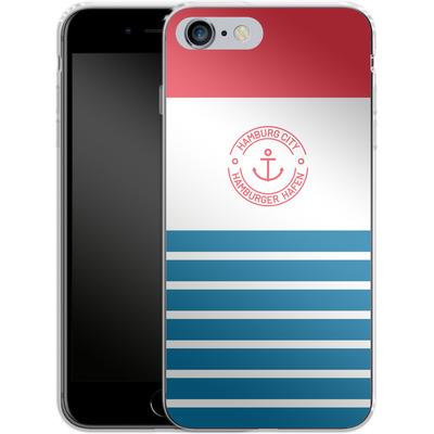 Apple iPhone 6s Plus Silikon Handyhuelle - Hamburger Hafen von caseable Designs