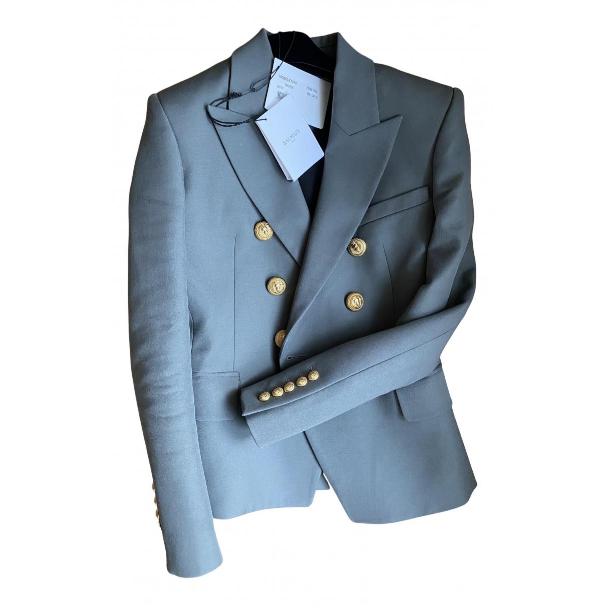 Balmain - Veste   pour femme en laine - gris