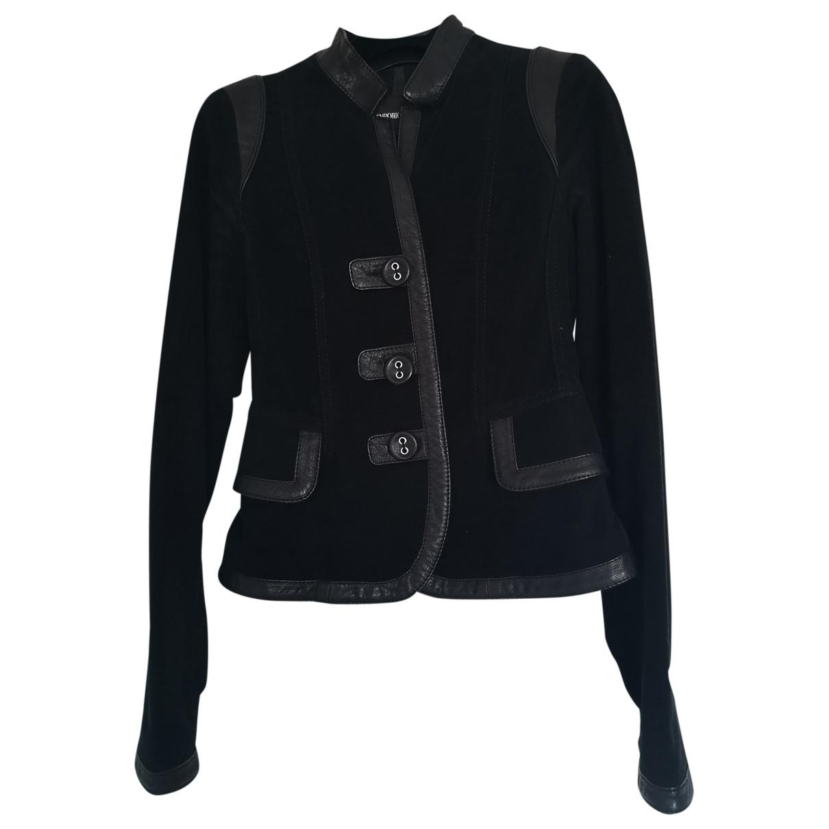 Emporio Armani - Veste   pour femme en coton - noir