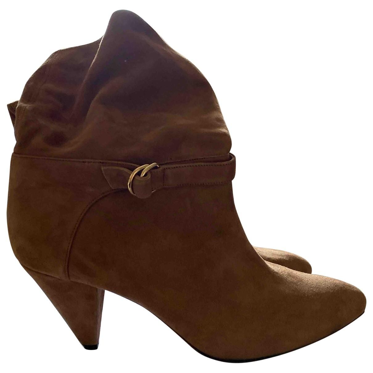 Tila March - Boots   pour femme en suede - camel