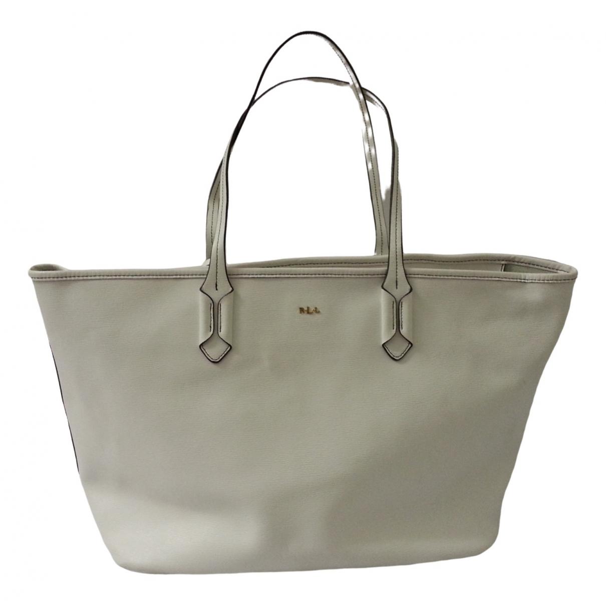 Lauren Ralph Lauren \N White Leather handbag for Women \N