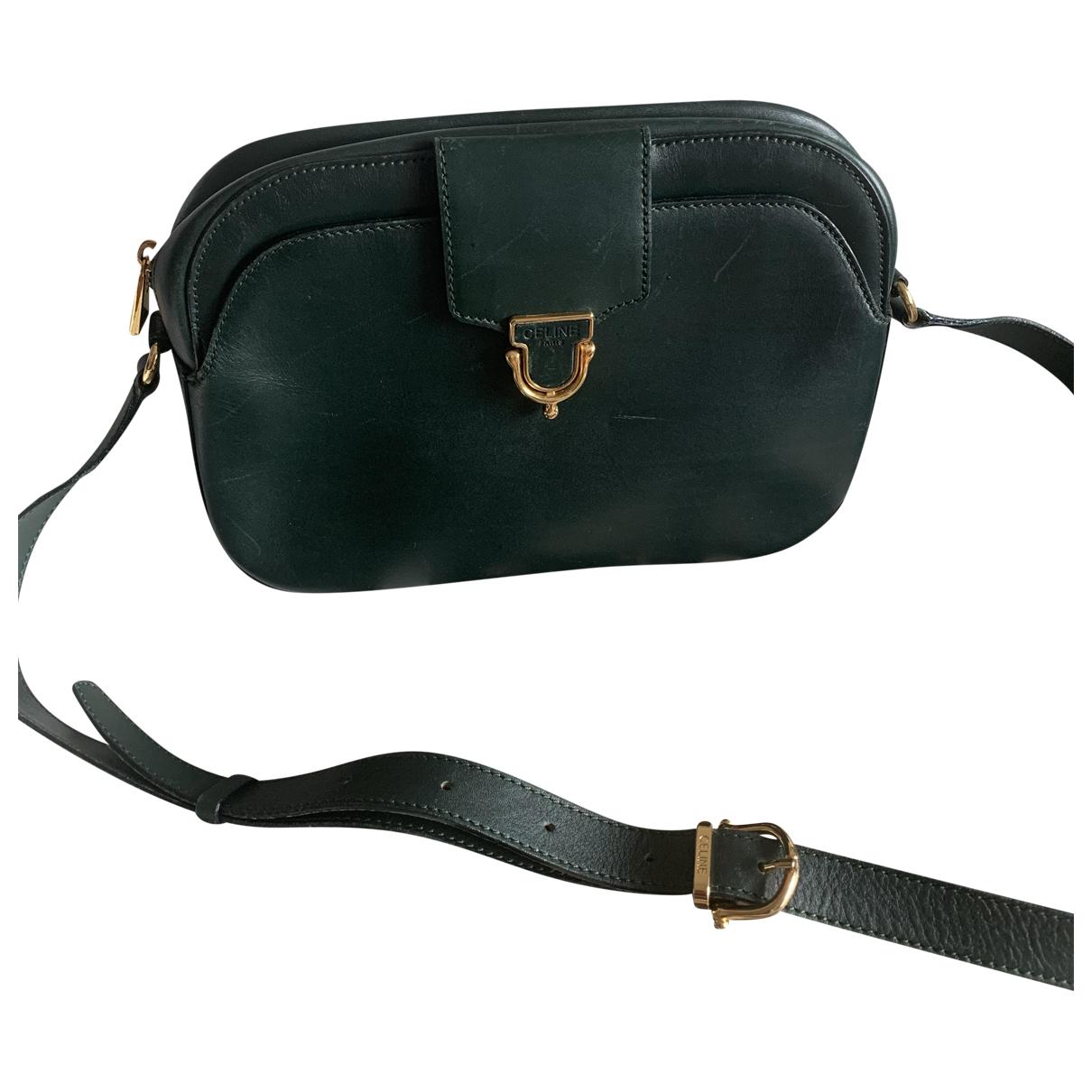 Celine \N Green Leather handbag for Women \N