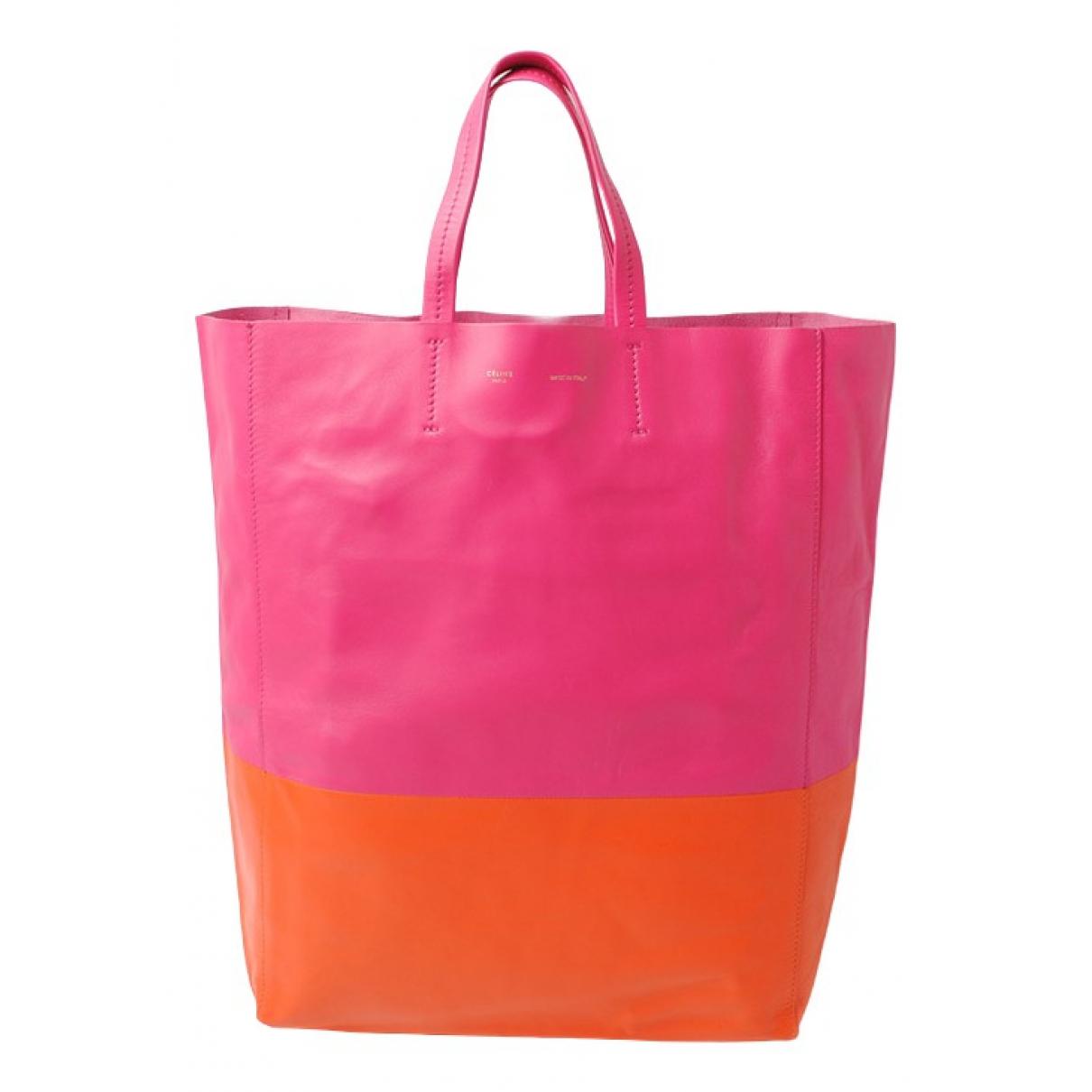 Celine Cabas Handtasche in  Orange Leder