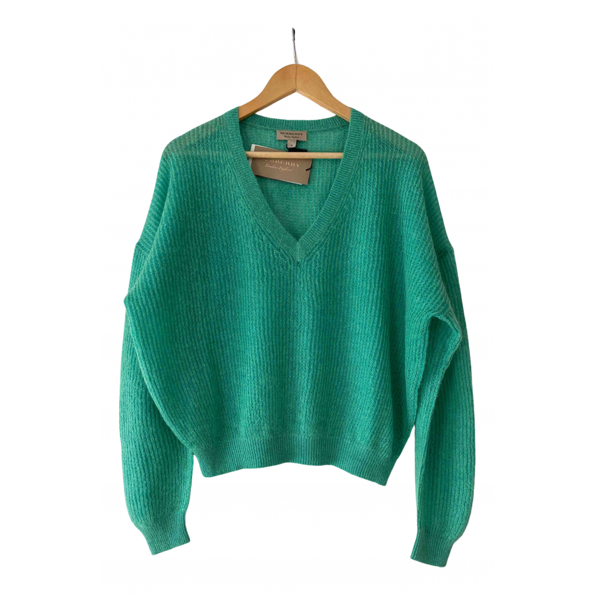 Burberry \N Pullover in  Gruen Wolle