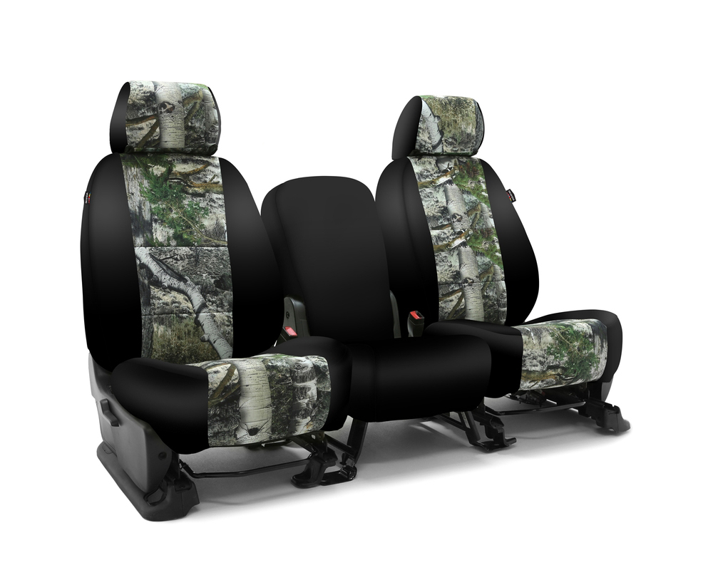 Coverking CSC2MO11CH7394 Skanda Custom Seat Covers 1 Row Neosupreme Mossy Oak Mountain Country with Black Sides Front Chevrolet Silverado 1500   2500