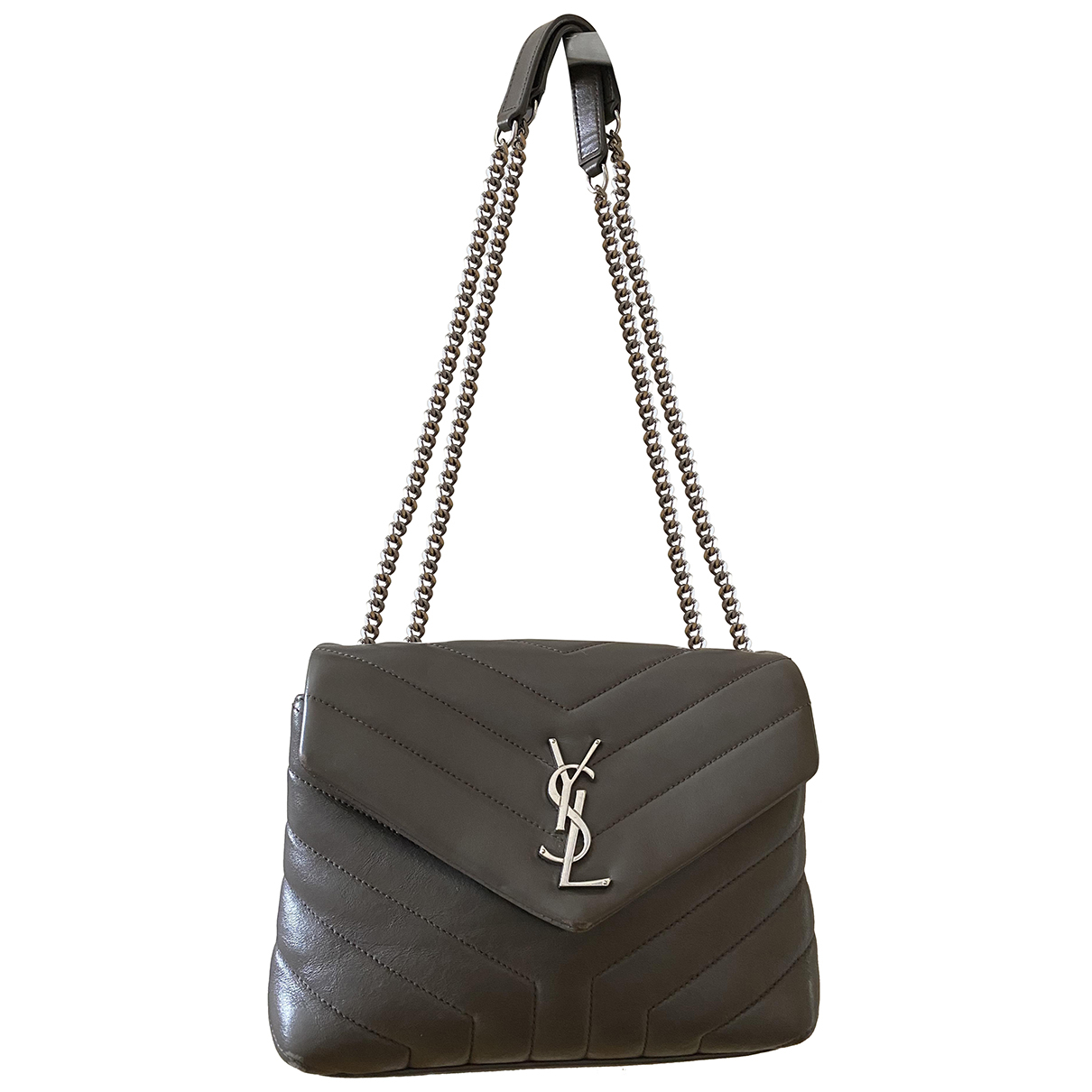 Saint Laurent Loulou Handtasche in  Grau Leder