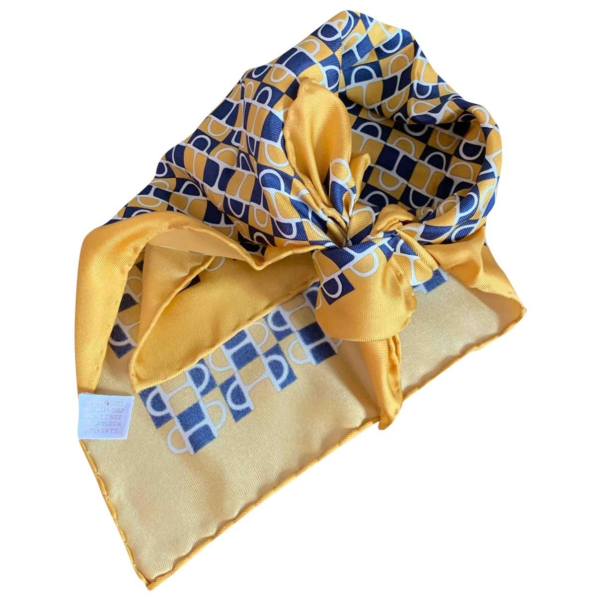 Gucci - Foulard   pour femme en soie - jaune