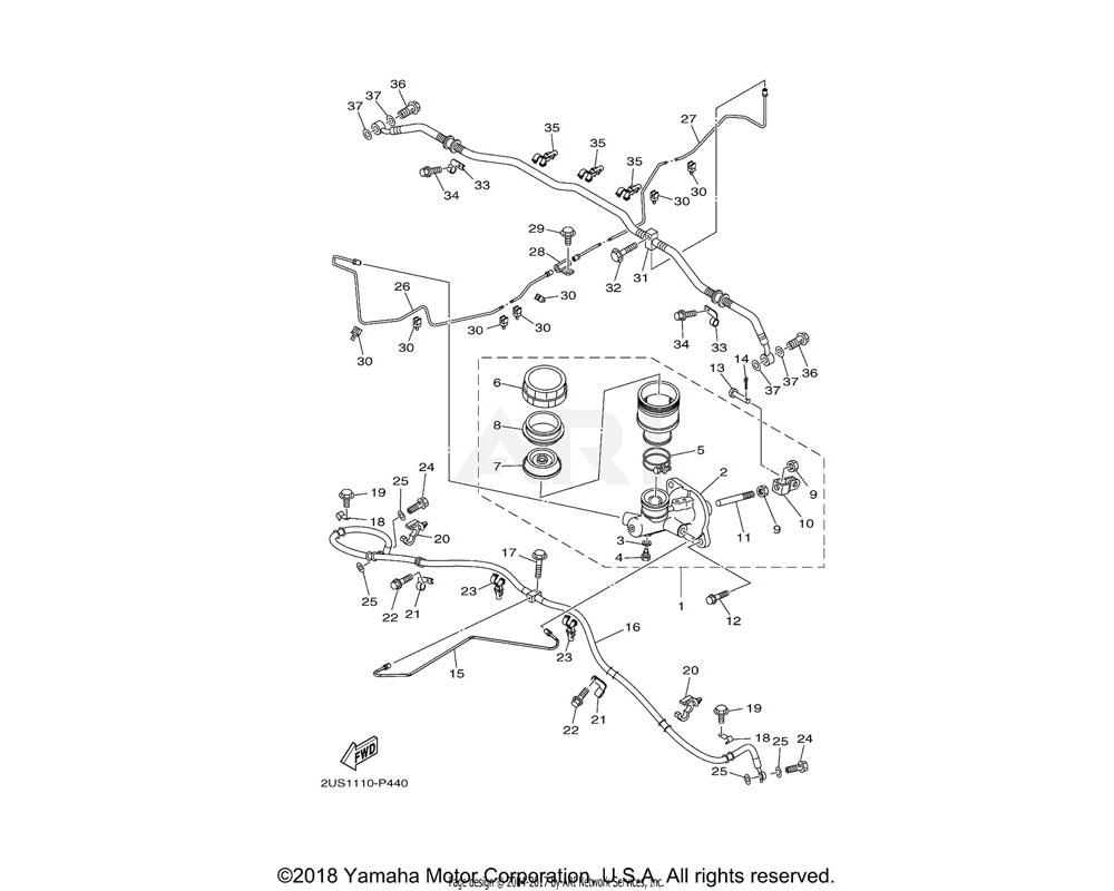 Yamaha OEM 5UG-25808-00-00 CYLINDER KIT, MASTER