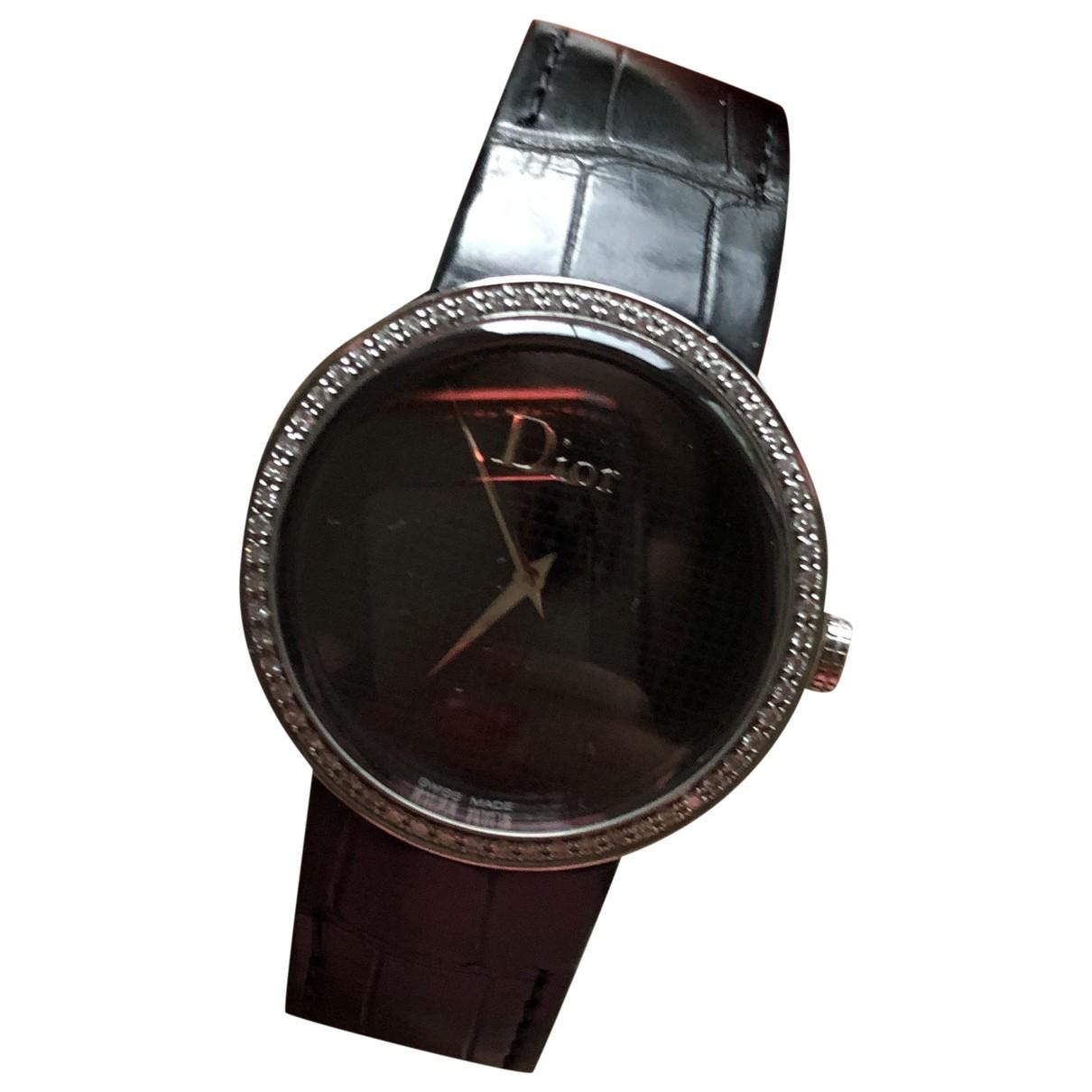 Dior - Montre   pour femme en acier - noir