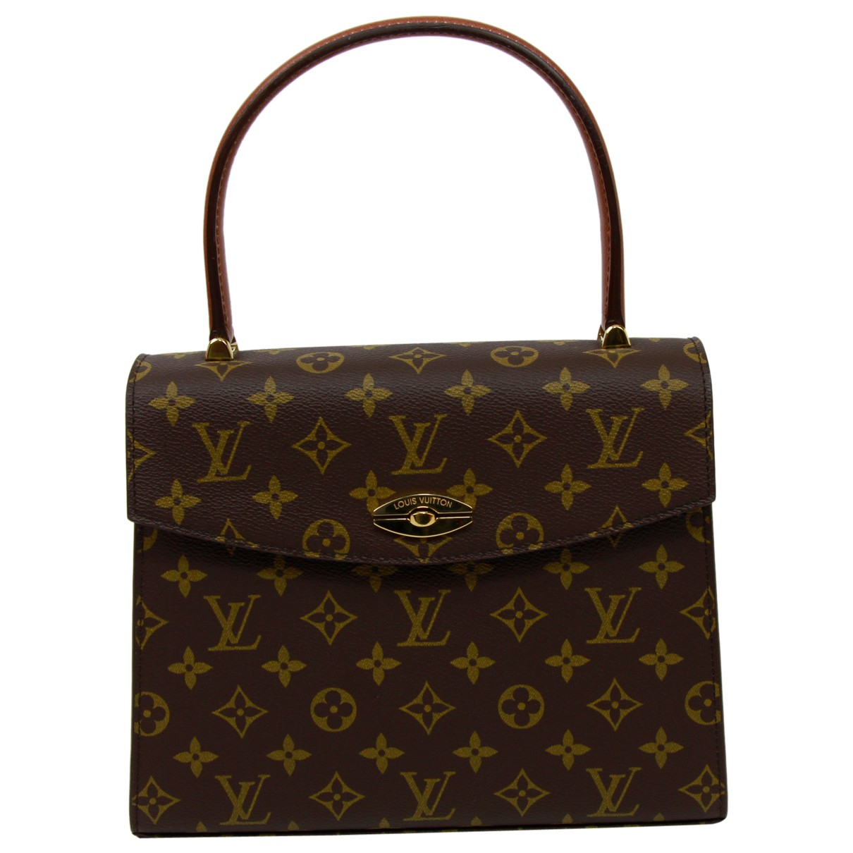 Louis Vuitton - Sac a main Malesherbes pour femme en toile - marron