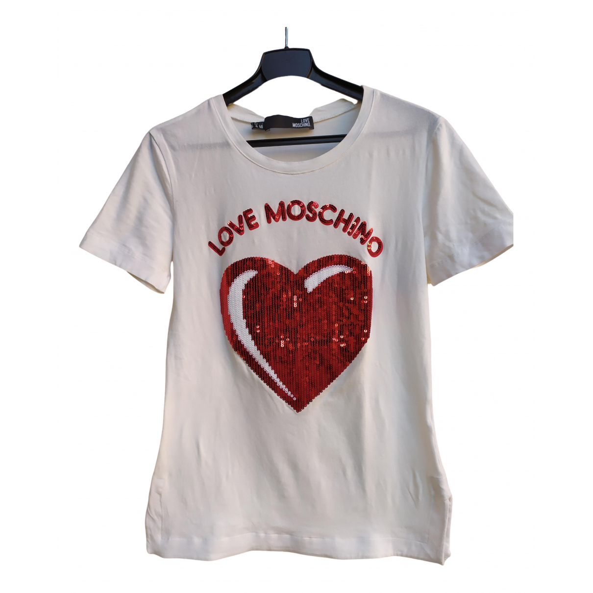 Moschino Love \N Top in  Weiss Mit Pailletten