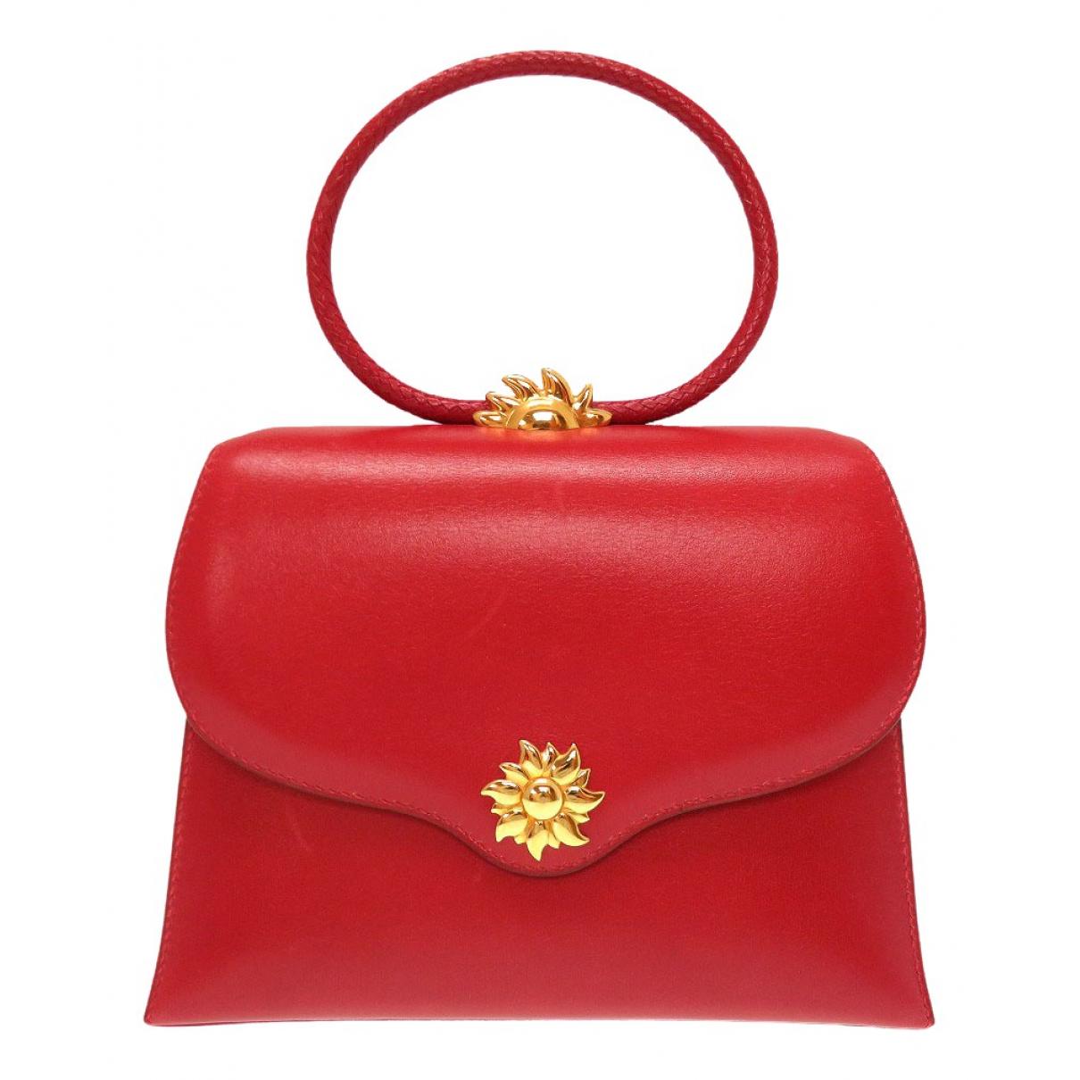 Hermes - Sac a main   pour femme en cuir - rouge