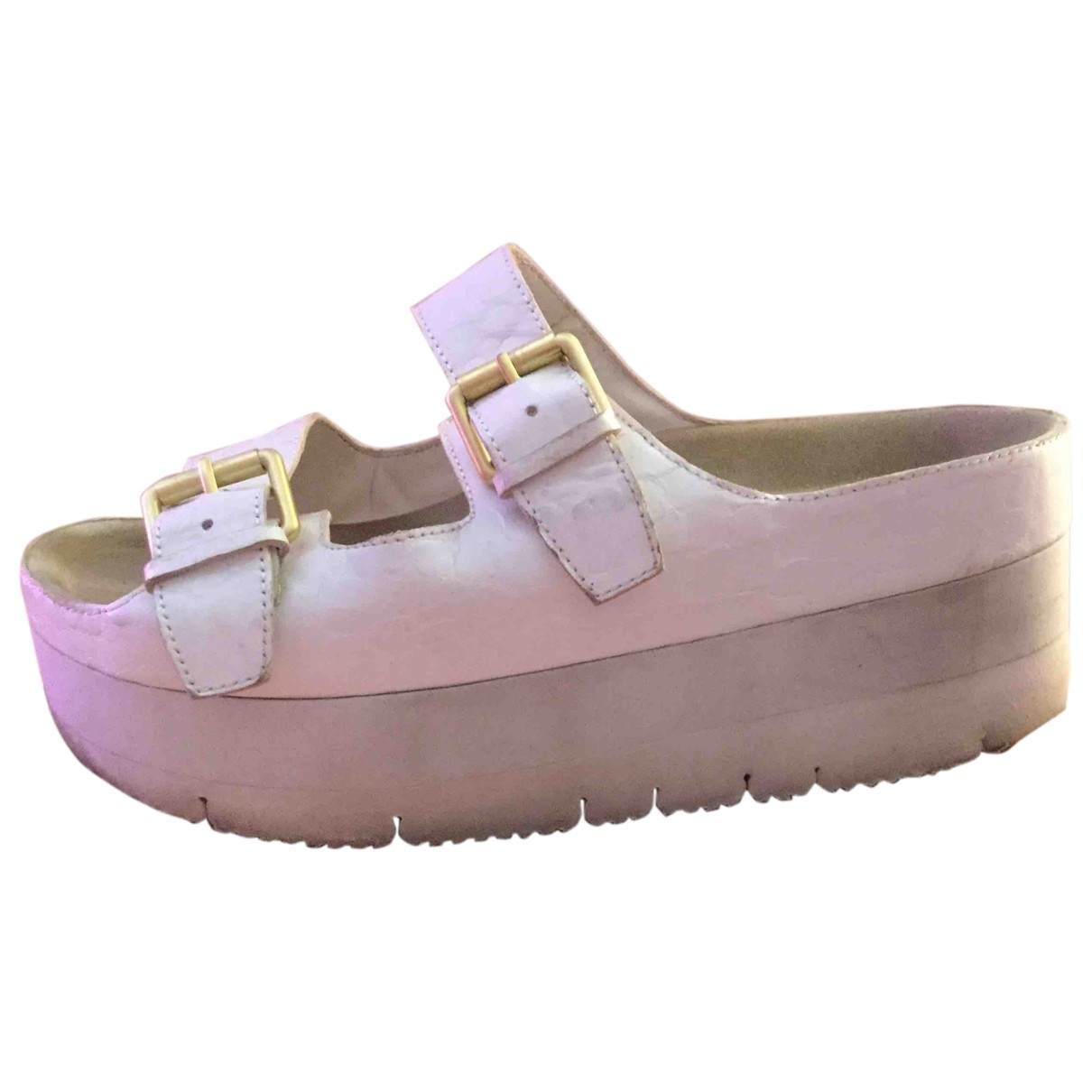 Ash \N White Leather Sandals for Women 40 EU