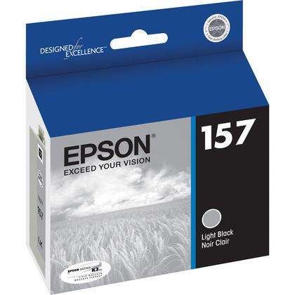 Epson T157720 Original Light Black Ink Cartridge for Epson Stylus Photo R3000 Printer