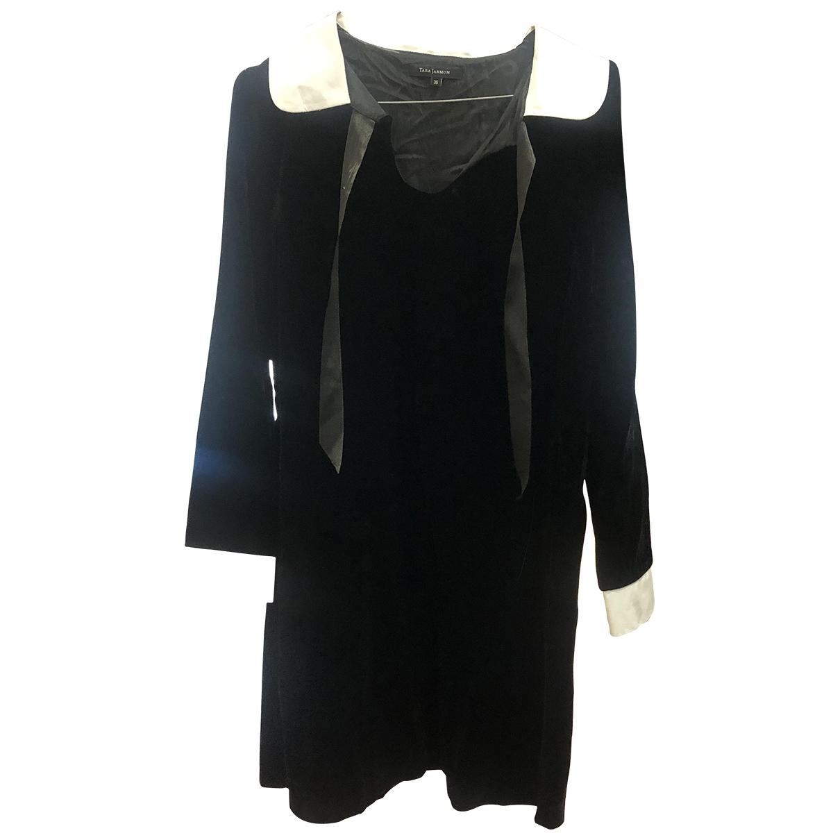 Tara Jarmon - Robe   pour femme en velours - noir