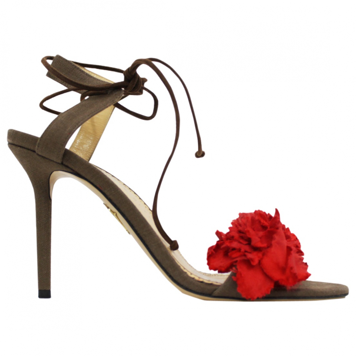 Charlotte Olympia \N Brown Suede Sandals for Women 39 EU