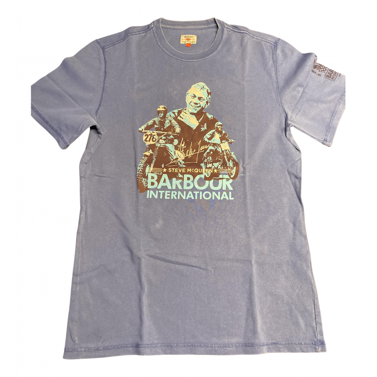 Barbour - Tee shirts   pour homme en coton - bleu