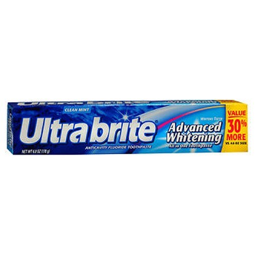 Colgate Ultra Brite Advanced Whitening Fluoride Toothpaste 6 oz by Colgate