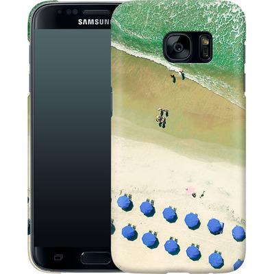 Samsung Galaxy S7 Smartphone Huelle - Beach Umbrellas von Joy StClaire