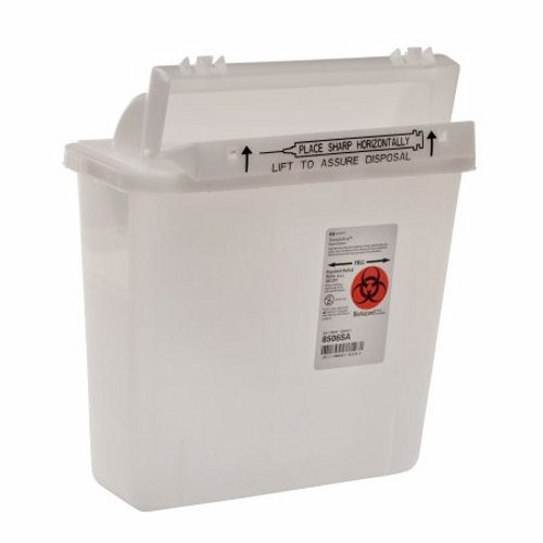 Sharps Container SharpStar In-Room 1-Piece 12-1/2 H X 10-3/4 W X 5-1/2 D Inch 5 Quart Translucent Ho - 1 Each by Cardinal