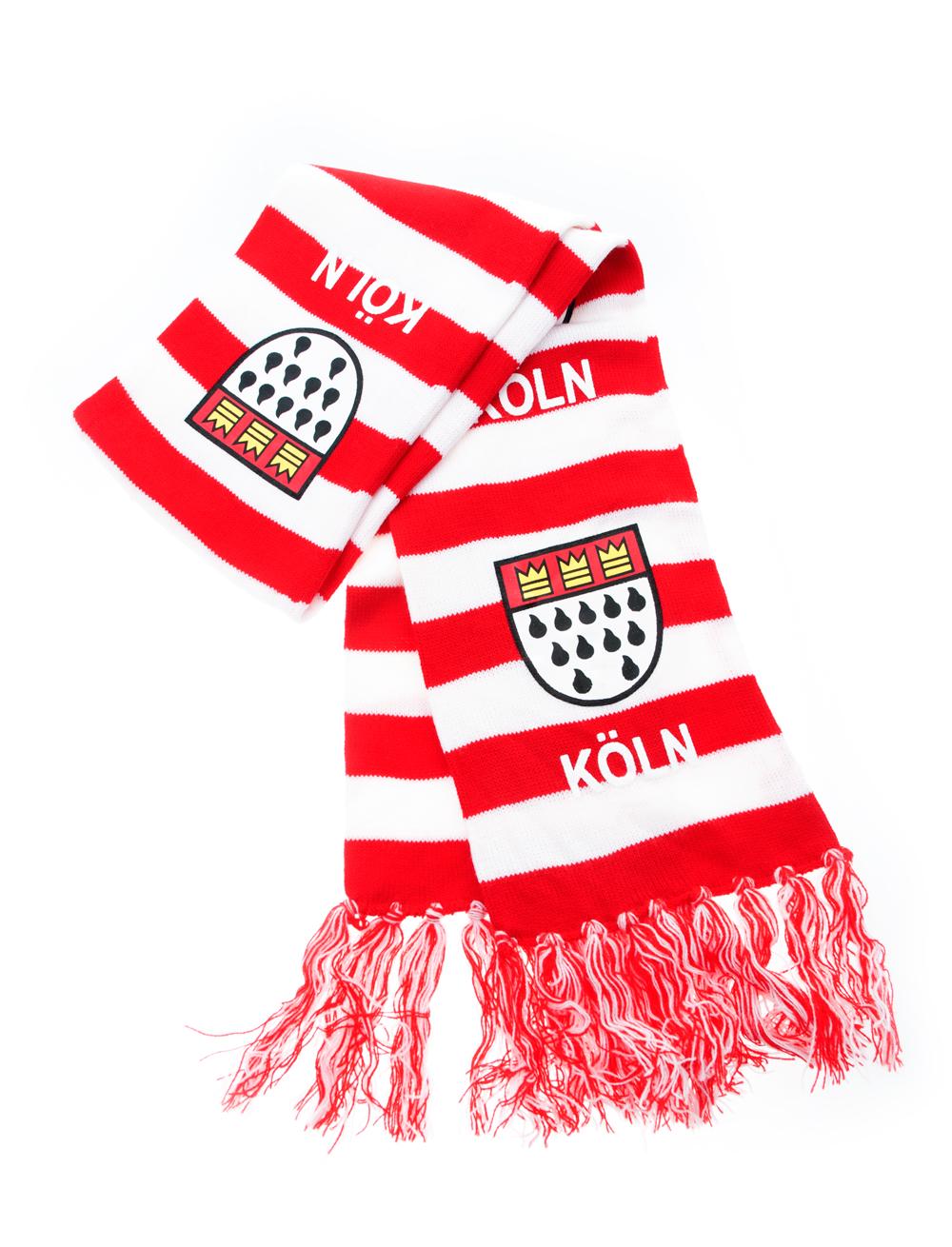 Kostuemzubehor Schal Koln Wappen rot/weiss