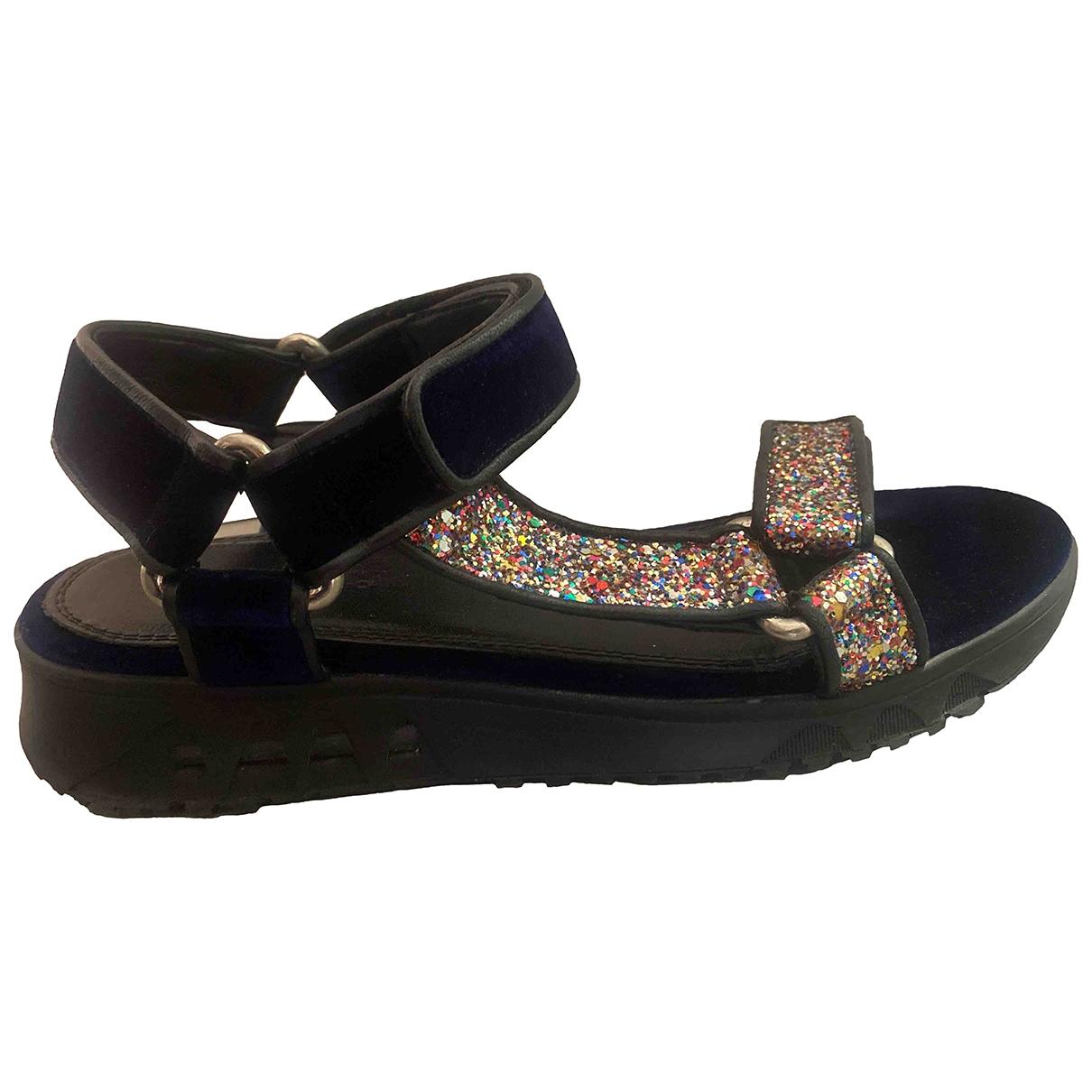 Sandro \N Velvet Sandals for Women 38 EU