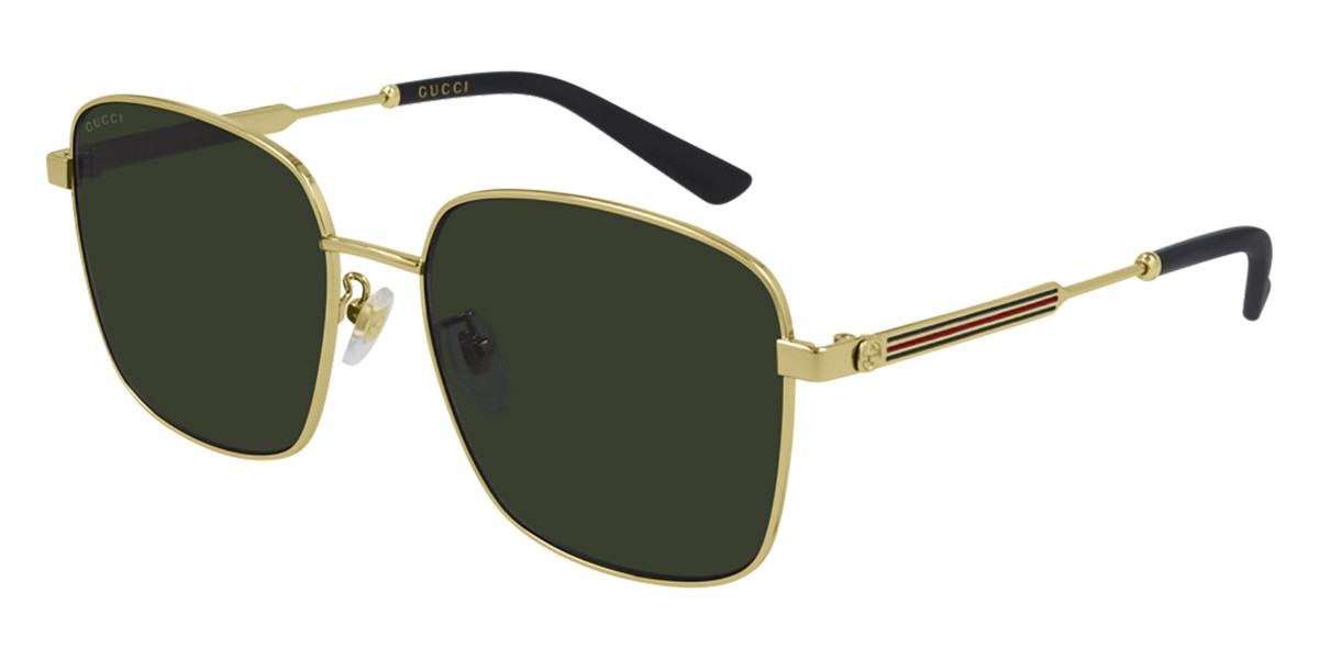 Gucci GG0852SK Asian Fit 001 Women's Sunglasses Gold Size 58 - Free RX Lenses