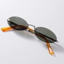 Rimless Frame Sunglasses With Case