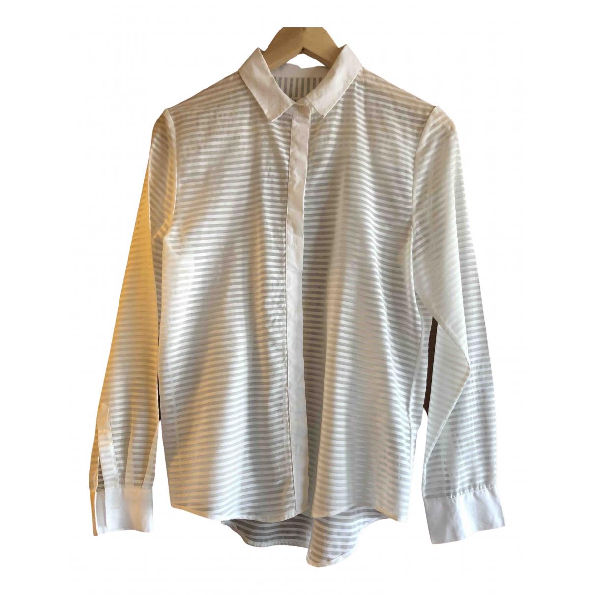 Uterque - Top   pour femme en coton - blanc