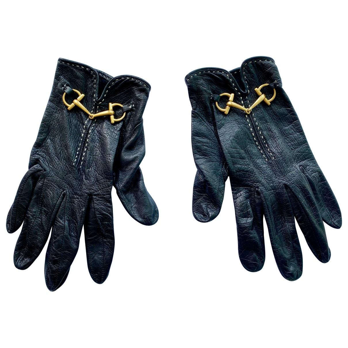 Gucci - Gants   pour femme en cuir - noir
