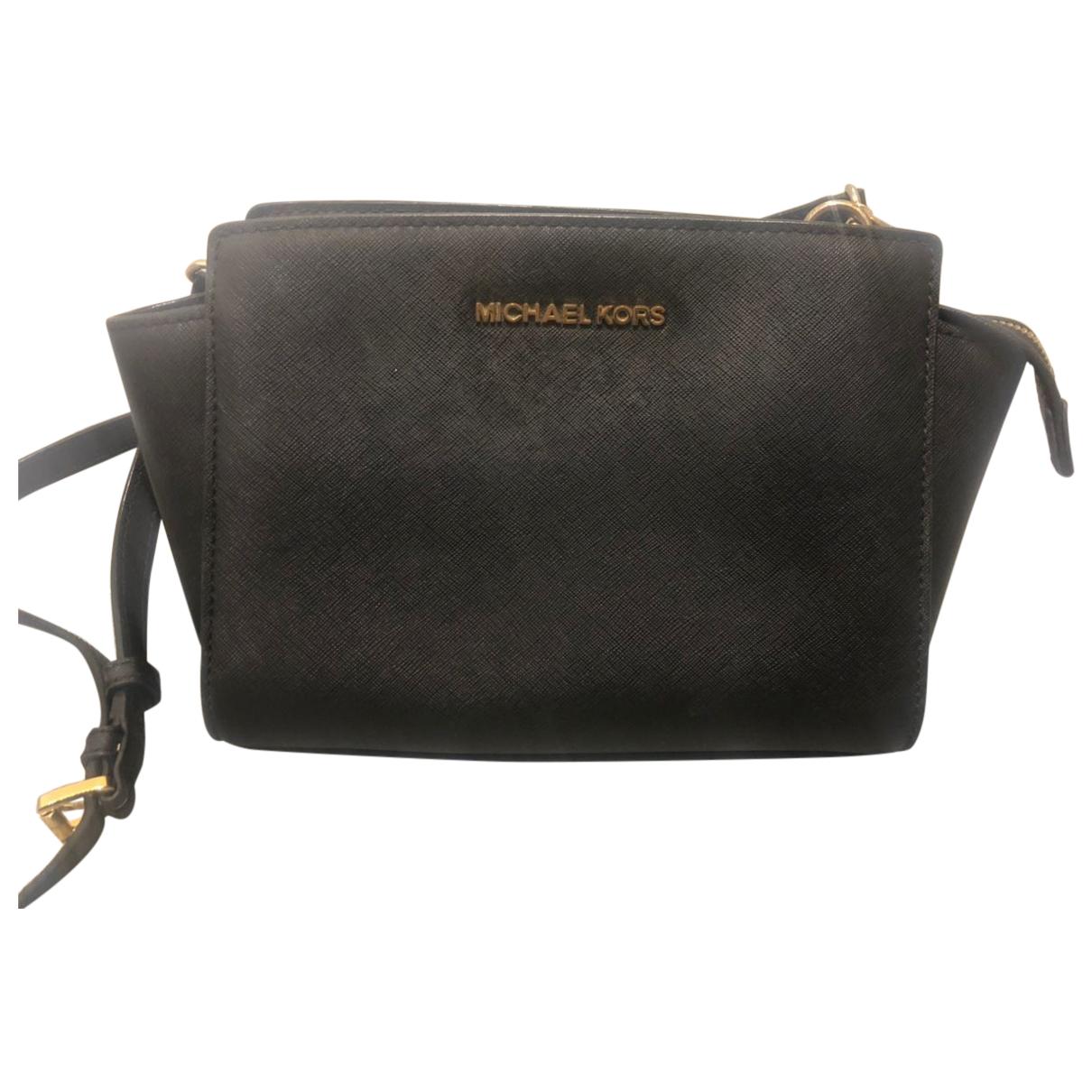 Michael Kors Selma Black Leather handbag for Women N