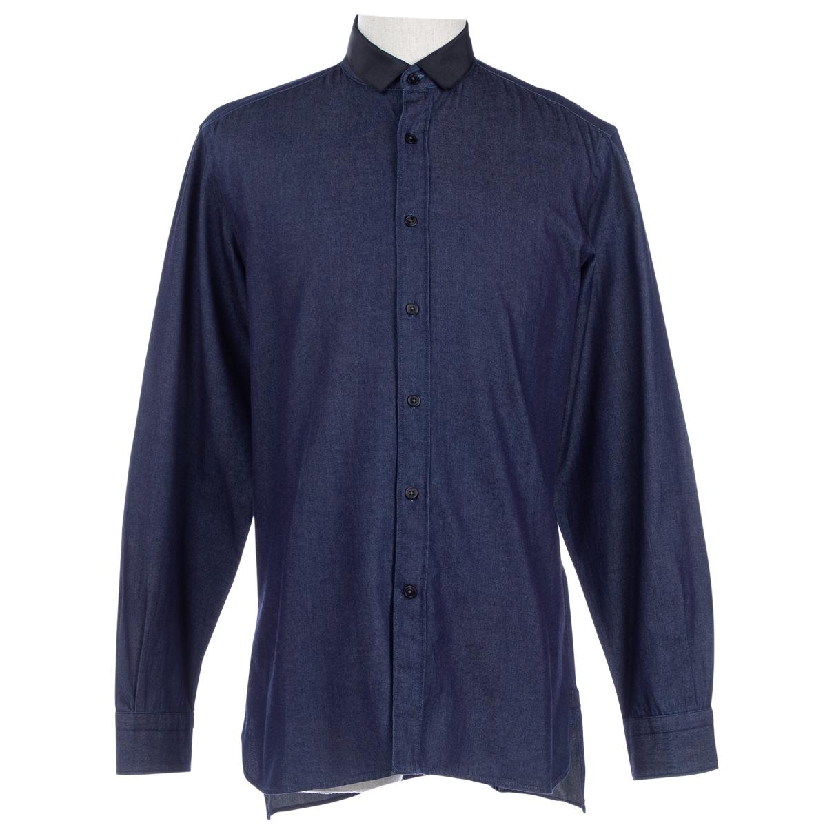 Lanvin - Chemises   pour homme en denim - marine