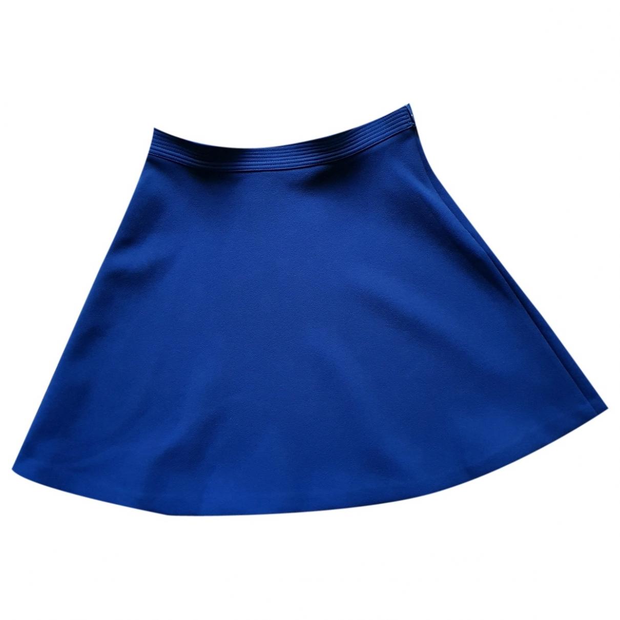 Sandro - Jupe   pour femme en coton - bleu
