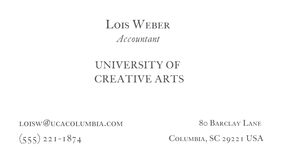 Education Business Cards, Set of 40, Silk, Card & Stationery -Creative Arts