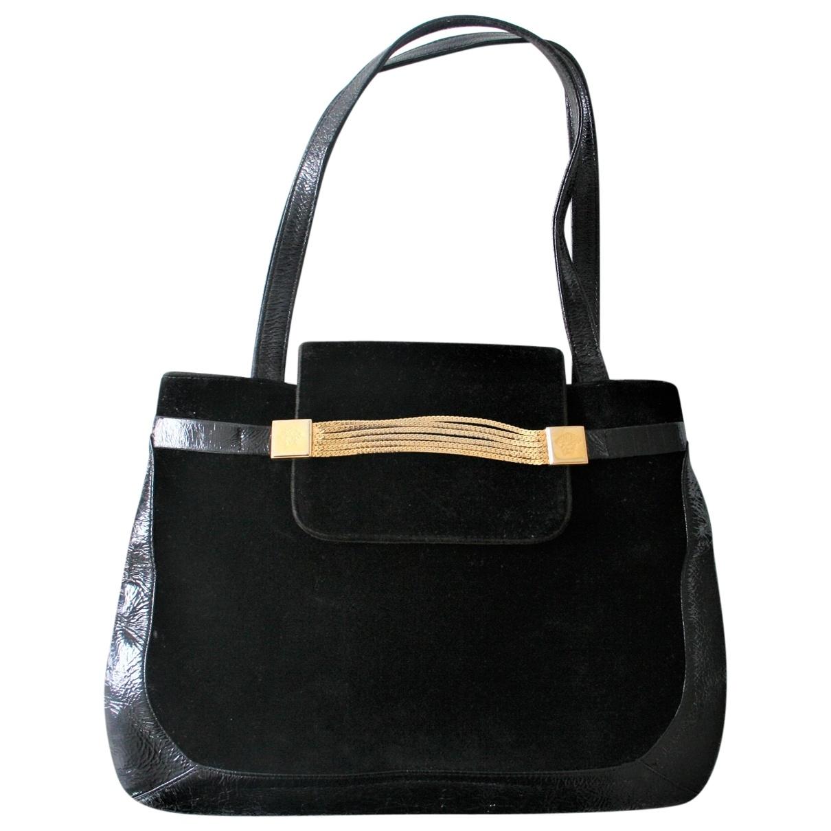 Gianni Versace \N Handtasche in  Schwarz Veloursleder