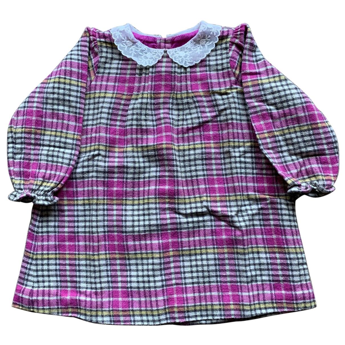 Bonpoint - Robe    pour enfant en laine - multicolore