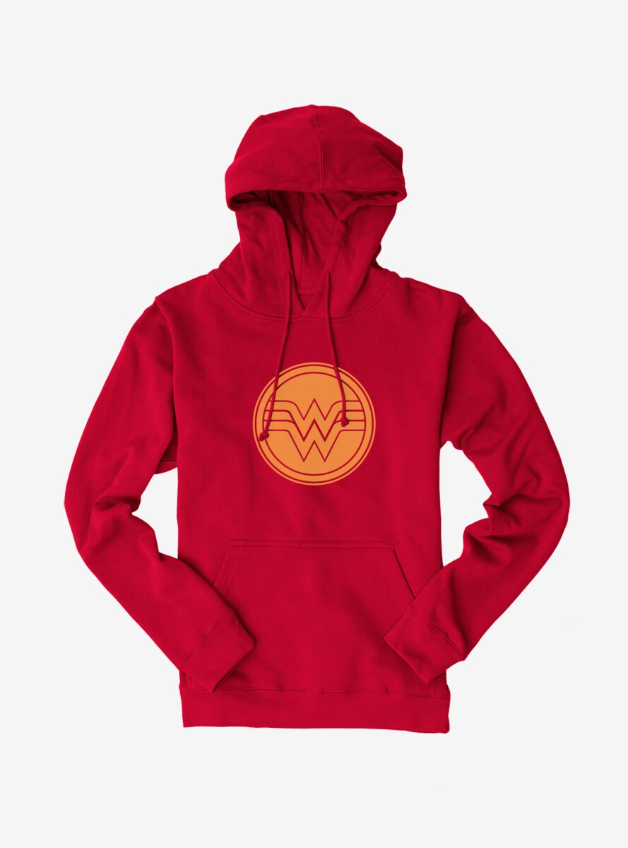 DC Comics Wonder Woman Yellow Circle Logo Hoodie