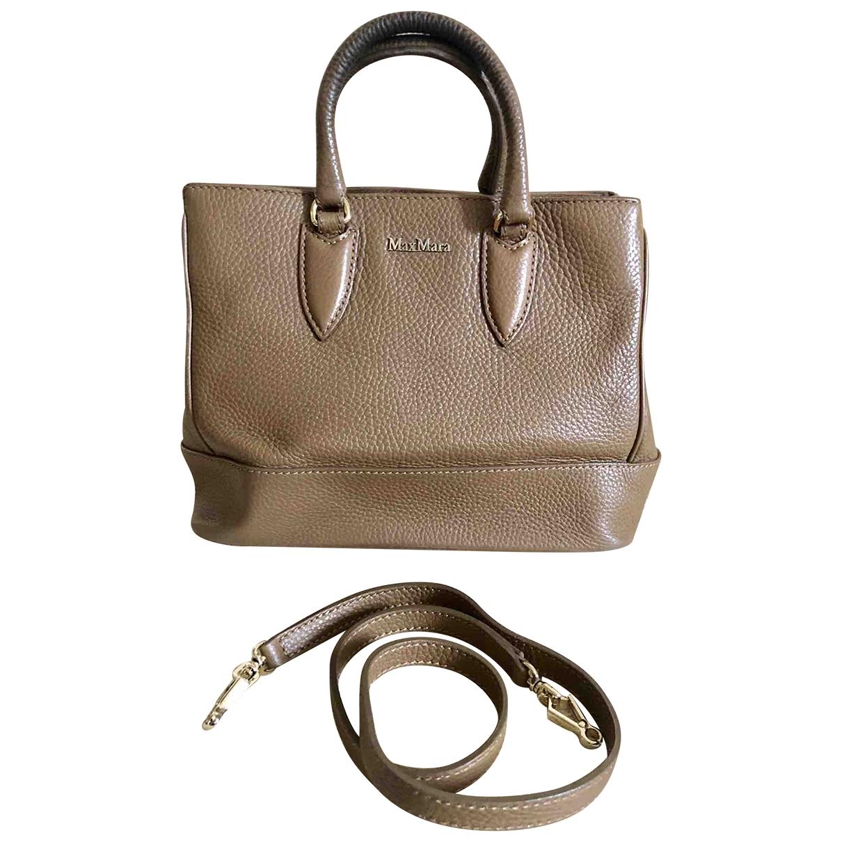 Max Mara \N Brown Leather handbag for Women \N