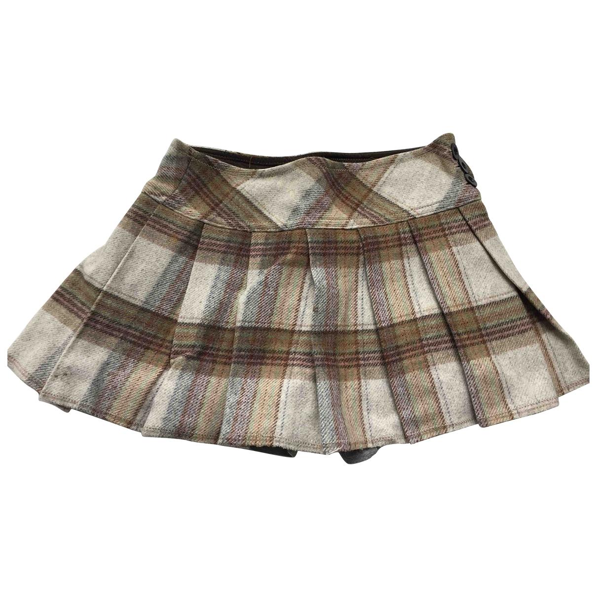 Woolrich \N Beige Wool skirt for Kids 12 years - XS UK