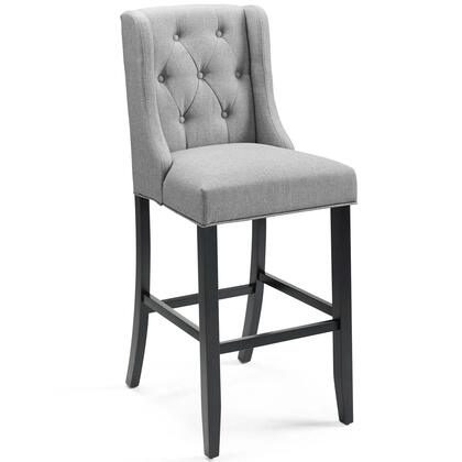 Baronet Collection EEI-3741-LGR Bar Stool with Dense Foam Padding  Sinuous Spring Support  Footrest Support  Solid Wood Legs and Soft Polyester