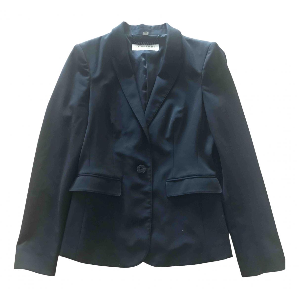 Burberry \N Black Wool jacket for Women 6 UK